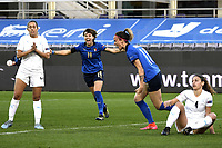 Barbara Bonansea of Italy celebrates after scoring a goal during the Women s EURO 2022 qualifying football match between Italy and Israel at stadio Carlo Castellani in Empoli (Italy), February, 24th, 2021. Photo Image Sport / Insidefoto