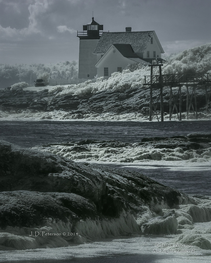 Hendricks Head Light, Southport Island, Maine (Infrared)