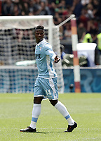 Calcio, Serie A: Roma, stadio Olimpico, 30 aprile 2017.<br /> Lazio's Keita Balde celebrates after scoring during the Italian Serie A football match between AS Roma an Lazio at Rome's Olympic stadium, April 30 2017.<br /> UPDATE IMAGES PRESS/Isabella Bonotto