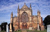 St. Mary's Church,  Haddington, East Lothian. Scotland's largest parish church. Constructed in 14th/15th centuries..