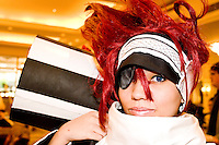 """Adrienne, cos-playing as Rabi from Die Gray-Matt, at the 12th annual Katsucon, a convention for fans of Japanese comics, animation (anime), and video games, held in Washington D.C. on February 18, 2006 and attended by over 8,000 people.<br /> <br /> Cosplay, short for """"costume play"""", is the act of creating and wearing outfits of one's favorite anime, comic, or video game and often acting out that characters actions."""