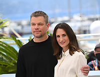 CANNES, FRANCE. July 9, 2021: Matt Damon & Camille Cottin at the Stillwater photocall at the 74th Festival de Cannes.<br /> Picture: Paul Smith / Featureflash