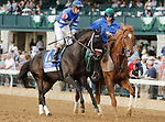 """October 08,, 2021: #1 Juju's Map and jockey Florent Geroux win the 70th running of The Darley Alcibiades Grade 1 $400,000 """"Win and You're In Breeders' Cup Juvenile Fillies Division"""" for owner Albaugh Family Stables and trainer Brad Cox at Keeneland Racecourse in Lexington, KY on October 08, 2021.  Candice Chavez/ESW/CSM"""