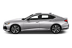 Car Driver side profile view of a 2021 Acura TLX Advance-Package 4 Door Sedan Side View