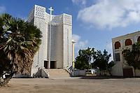DJIBOUTI city, cathedral of catholic church / DSCHIBUTI katholische Kathedrale