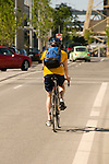 Male riding his bike at South Waterfront, Portland, Oregon