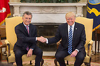 President Donald Trump and Argentine President Mauricio Macri meet, Thursday, April 27, 2017, in the Oval Office of the White House in Washington, D.C. (Official White House Photo by Shealah Craighead)