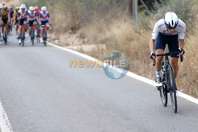 Guy Niv (ISR) Israel Start-Up Nation tries to join the breakaway but fails during Stage 6 of La Vuelta d'Espana 2021, running 158.3km from Requena to Alto de la Montaña Cullera, Spain. 19th August 2021.    <br /> Picture: Luis Angel Gomez/Photogomezsport | Cyclefile<br /> <br /> All photos usage must carry mandatory copyright credit (© Cyclefile | Luis Angel Gomez/Photogomezsport)