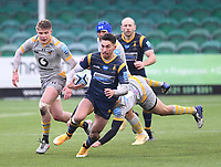 14th February 2021; Sixways Stadium, Worcester, Worcestershire, England; Premiership Rugby, Worcester Warriors versus Wasps; Nick David of Worcester Warriors makes an open field break