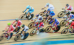 Cyclist in action during the UCI Track Cycling World Cup at the Hong Kong Velodrome in Hong Kong, China on January 17, 2016. Photo by Aitor Colomer / Power Sport Images