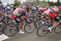 peloton cornering fast with only 30km to go<br /> <br /> Liège-Bastogne-Liège 2014