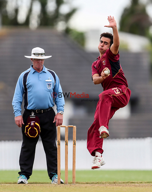 Kings College v St Kents, Cricket Semi Final, St Kentigerns, Auckland, New Zealand. Saturday 9 March 2017. Photo: Simon Watts/www.bwmedia.co.nz for Kings College