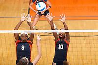 SAN ANTONIO, TX - SEPTEMBER 21, 2006: The Stephen F Austin State University Ladyjacks vs. The University of Texas at San Antonio Roadrunners Volleyball at the UTSA Convocation Center. (Photo by Jeff Huehn)