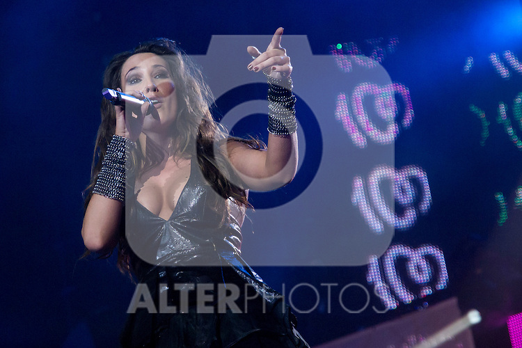 02.06.2012. Malu performs during in the ´Cadena 100´ 20 th anniversary Concert at the stadium Vicente Calderon in Madrid. In the image: Malu  (Alterphotos/Marta Gonzalez)