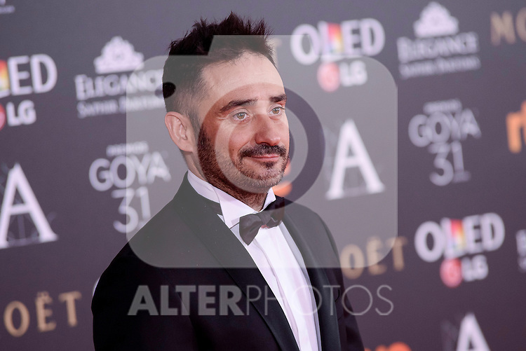 J.A. Bayona attends to the Red Carpet of the Goya Awards 2017 at Madrid Marriott Auditorium Hotel in Madrid, Spain. February 04, 2017. (ALTERPHOTOS/BorjaB.Hojas)