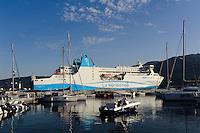 Fährhafen in Propriano, Korsika, Frankreich