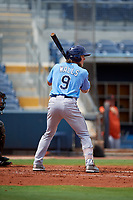 Tampa Bay Rays Taylor Walls (9) at bat during a Florida Instructional League game against the Baltimore Orioles on October 1, 2018 at the Charlotte Sports Park in Port Charlotte, Florida.  (Mike Janes/Four Seam Images)