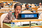 The representative of Indonesia exercises her country's right of reply during the general debate of the General Assembly's seventy-first session<br /> <br /> <br /> <br /> General Assembly Seventy-first session 20th plenary meeting<br /> <br /> General Debate
