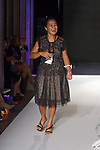 Fashion designer Chona Bacaoco thanks audience for attending her MM Milano Spring Summer 2020 runway show, for The Society Fashion Week Spring Summer 2020 during New York Fashion Week, on September 7, 2019.
