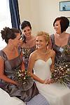 Bride got ready for wedding at Pelican Lagoon Kangaroo Island South Australia ceremony was held at Pennington Bay Kangaroo Island.