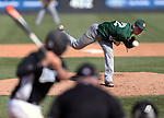 Ridge vs. Montgomery in the Somerset County Tournament baseball semifinals at TD Bank Park Ball in Bridgewater on Thursday May 12, 2016.<br /> Montgomery pitcher # 22 Matthew Ryan on the mound.