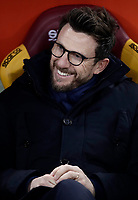 Calcio, Serie A: AS Roma - Torino Roma, stadio Olimpico, 9 marzo, 2018.<br /> Roma's coach Eusebio Di Francesco waits for the start of the Italian Serie A football match between AS Roma and Torino at Rome's Olympic stadium, 9 marzo, 2018.<br /> UPDATE IMAGES PRESS/Isabella Bonotto