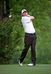 Troy Matteson teeing off during the second round of the Quail Hollow Championship