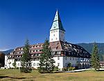 Germany, UpperBavaria, Werdenfelser Land, near Mittenwald: Castle Elmau   Deutschland, Bayern, Oberbayern, Werdenfelser Land, bei Mittenwald: Schloss Elmau