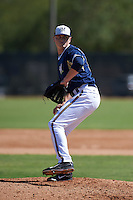 Milwaukee Brewers pitcher Karsen Lindell (58) throws live batting practice on a side field before an instructional league game against the Cleveland Indians on October 8, 2015 at the Maryvale Baseball Complex in Maryvale, Arizona.  (Mike Janes/Four Seam Images)