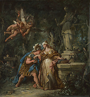 Full title: Jason swearing Eternal Affection to Medea<br /> Artist: Jean-François Detroy<br /> Date made: 1742-3<br /> Source: http://www.nationalgalleryimages.co.uk/<br /> Contact: picture.library@nationalgallery.co.uk<br /> <br /> Copyright © The National Gallery, London