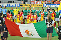 Mexico during the signing of the national anthem. The USWNT defeated Mexico 7-0 during an international friendly, at RFK Stadium, Tuesday September 3, 2013.
