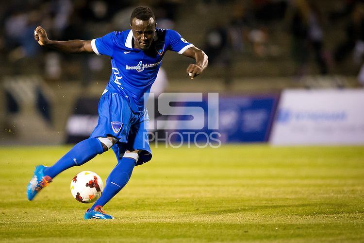 Irvine, California - Saturday April 5, 2014: The Oklahoma City Energy defeated the OC Blues FC 2-0 in an USL PRO match at Anteater stadium on the campus of UC Irvine.