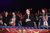 -- NO TABLOIDS NO SITE WEB - 41st International Circus Festival of Monte-Carlo. H.S.H. Prince Albert II of Monaco, H.S.H. Princess Stephanie of Monaco, daughter Pauline Ducruet and son Louis Ducruet with girlfriend Marie attend the 41st International Circus Festival of Monte-Carlo opening.