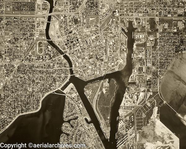 historical aerial photograph Tampa, Florida, 1969