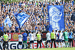 10.08.2019,  GER; DFB Pokal, SV Drochtersen/Assel vs FC Schalke 04 ,DFL REGULATIONS PROHIBIT ANY USE OF PHOTOGRAPHS AS IMAGE SEQUENCES AND/OR QUASI-VIDEO, im Bild die Mannschaft von Schalke jubelt ueber den Sieg mit den Fans Foto © nordphoto / Witke *** Local Caption ***