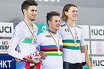 Men's Individual Pursuit's prize ceremony during the 2017 UCI Track Cycling World Championships on 14 April 2017, in Hong Kong Velodrome, Hong Kong, China. Photo by Chris Wong / Power Sport Images