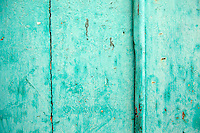 Turquoise painted door