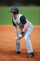St. Olaf Oles designated hitter Sam Stuckmayer (20) during the first game of a doubleheader against the Union Dutchmen on February 20, 2016 at Lake Myrtle Park in Auburndale, Florida.  Union defeated St. Olaf 7-2.  (Mike Janes/Four Seam Images)