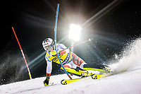 22nd December 2020, Madonna di Campiglio, Italy; FIS Mens slalom world cup race; Daniel Yule of Switzerland in action during his 1st run of mens Slalom