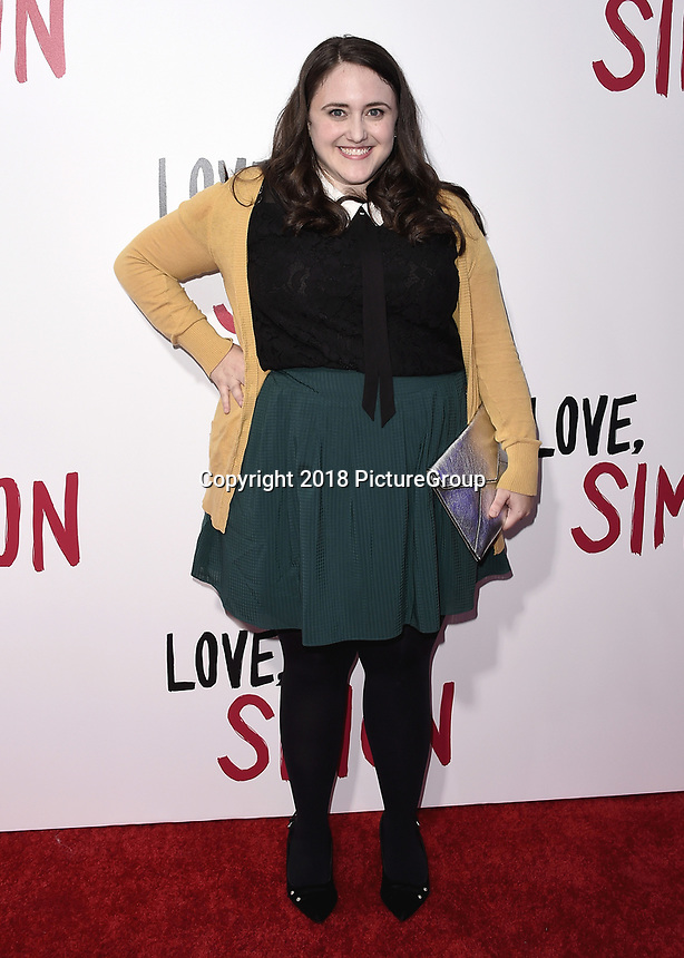 """LOS ANGELES, CA - MARCH 13:  Becky Albertalli at the special screening of 20th Century Fox's """"Love, Simon"""" at Westfield Century City on March 13, 2018 in Los Angeles, California. (Photo by Scott Kirkland/PictureGroup)"""