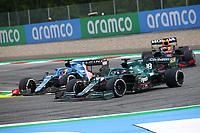 July 4th 2021; Red Bull Ring, Spielberg, Austria; F1 Grand Prix of Austria, race day;  14 ALONSO Fernando (spa), Alpine F1 A521, alongside 18 STROLL Lance (can), Aston Martin F1 AMR21