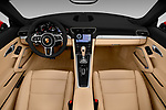 Stock photo of straight dashboard view of 2018 Porsche 911 Carrera 2 Door Convertible Dashboard
