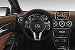 Car pictures of steering wheel view of a 2014 Mercedes Benz CLA Class 45 AMG 4 Door Sedan