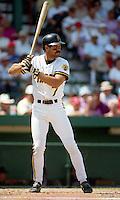 Pittsburgh Pirates Jeff King (7) during Spring Training 1993 at McKechnie Field in Bradenton, Florida.  (MJA/Four Seam Images)