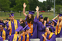 More than 390 students crossed the stage Friday night for the North Kitsap High School graduation. Annie Herzog celebrates during a break in speeches. (Brad Camp/ Olympic Photo Group)