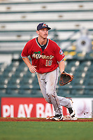 Fort Myers Miracle first baseman Chris Paul (18) during a game against the Bradenton Marauders on August 3, 2016 at McKechnie Field in Bradenton, Florida.  Bradenton defeated Fort Myers 9-5.  (Mike Janes/Four Seam Images)