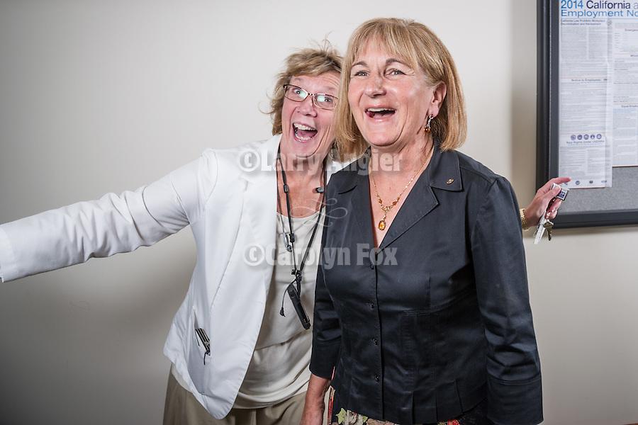 Sutter Amador Hospital portraits<br /> <br /> Medody Mongomery bombs the photo of Anne Platt