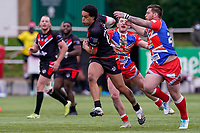 Josh WALTERS (13) of London Broncos during the Betfred Challenge Cup Round One match between London Broncos and Keighley Cougars at The Rock, Rosslyn Park, London, England on 20 March 2021. Photo by David Horn.