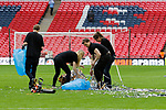 Tranmere Rovers 1 Forest Green Rovers 3, 14/05/2017. Wembley Stadium, Conference play off Final. The clean up begins after the Vanarama Conference play off Final  between Tranmere Rovers v Forest Green Rovers at the Wembley. Photo by Paul Thompson.