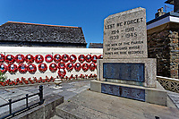 The War Memorial in Fishguard, Pembrokeshire, Wales, UK